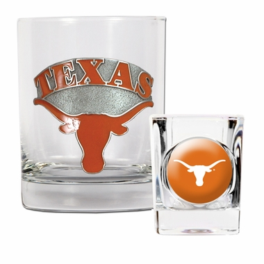 Texas Rocks and Shot Glass Set