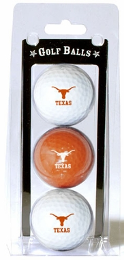 Texas Set of 3 Multicolor Golf Balls
