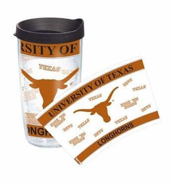 Texas Set of TWO 16 oz. Tervis Wrap Tumblers w/ Lids