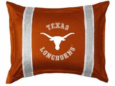 Texas SIDELINES Jersey Material Pillow Sham