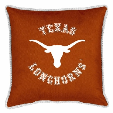 Texas SIDELINES Jersey Material Toss Pillow