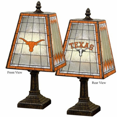 Texas Small Art Glass Lamp
