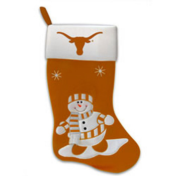 Texas Snowman Fabric Stocking