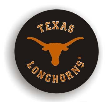 Texas Longhorns Black Tire Cover - Standard Size