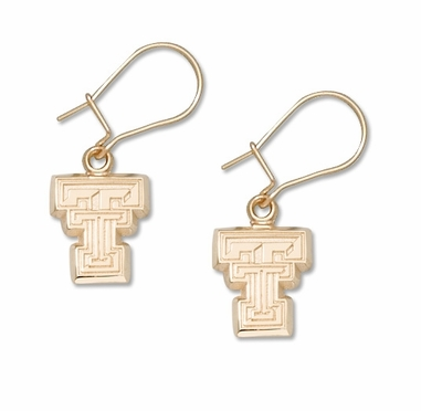 Texas Tech 14K Gold Post or Dangle Earrings