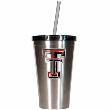 Texas Tech 16oz Stainless Steel Insulated Tumbler with Straw