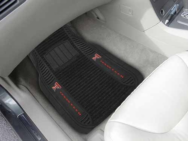 Texas Tech 2 Piece Heavy Duty DELUXE Vinyl Car Mats