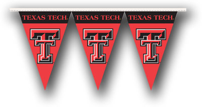 Texas Tech 25 Foot String of Party Pennants (P)