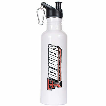 Texas Tech 26oz Stainless Steel Water Bottle (White)