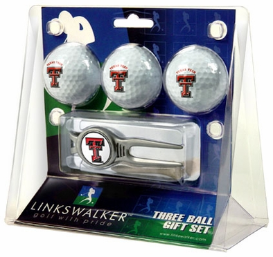 Texas Tech 3 Ball Gift Pack With Kool Tool
