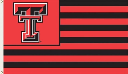 Texas Tech 3' x 5' Flag (Stripes) (F)