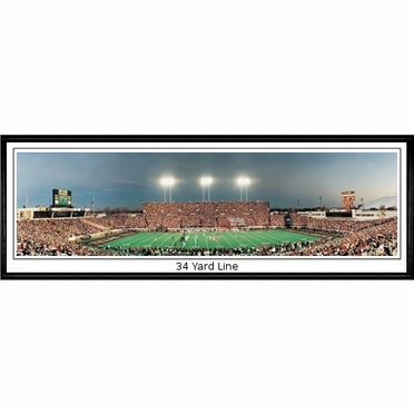 Texas Tech 34 Yard Line - vs. Texas Framed Panoramic Print