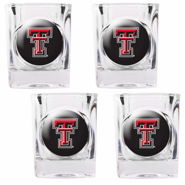 Texas Tech 4 Piece Shot Glass Set