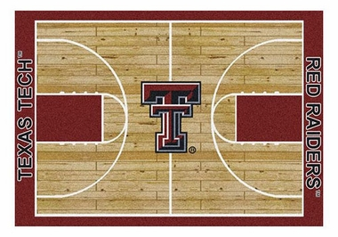 "Texas Tech 5'4"" x 7'8"" Premium Court Rug"