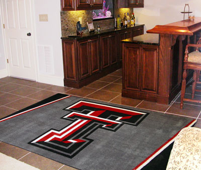 Texas Tech 5 Foot x 8 Foot Rug
