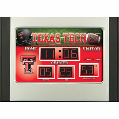 Texas Tech Alarm Clock Desk Scoreboard