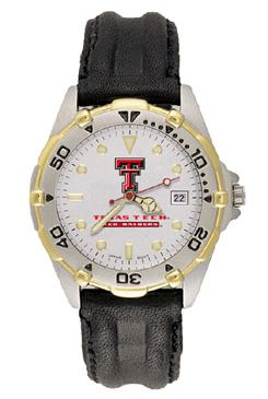 Texas Tech All Star Mens (Leather Band) Watch