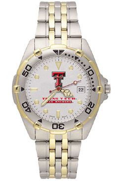 Texas Tech All Star Mens (Steel Band) Watch