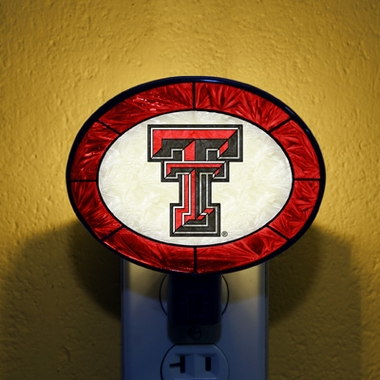 Texas Tech Art Glass Night Light