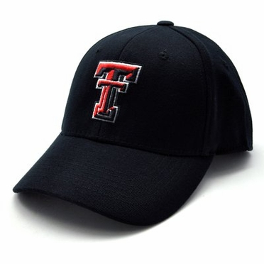 Texas Tech Black Premium FlexFit Baseball Hat