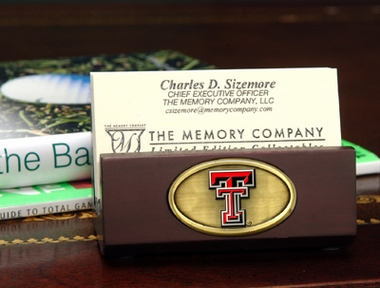Texas Tech Business Card Holder