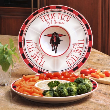 Texas Tech Ceramic Chip and Dip Plate