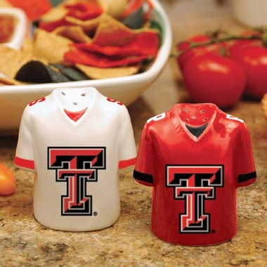 Texas Tech Ceramic Jersey Salt and Pepper Shakers
