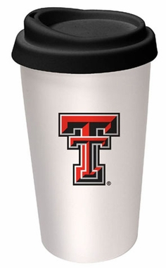 Texas Tech Ceramic Travel Cup