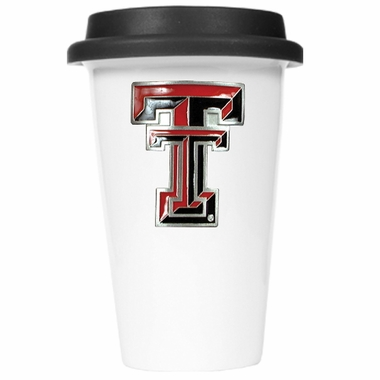 Texas Tech Ceramic Travel Cup (Black Lid)