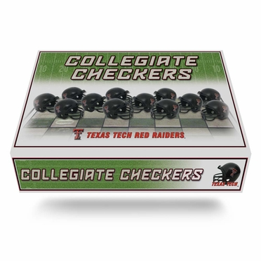 Texas Tech Checkers Set