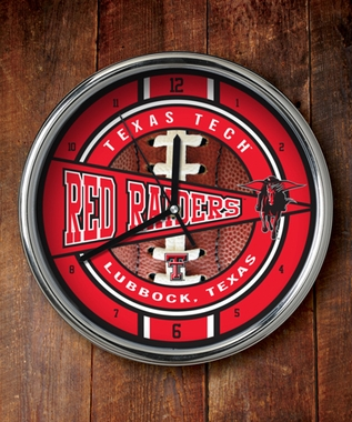 Texas Tech Chrome Clock