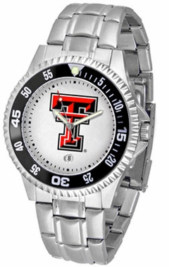 Texas Tech Competitor Men's Steel Band Watch