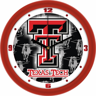 Texas Tech Dimension Wall Clock