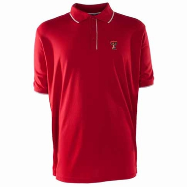 Texas Tech Mens Elite Polo Shirt (Color: Red)