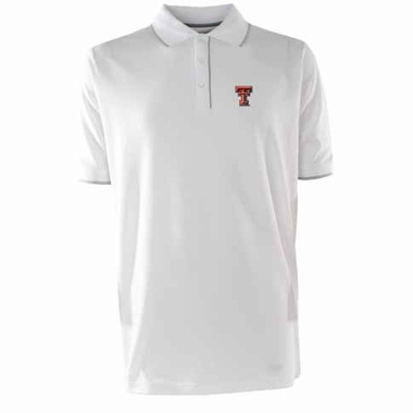 Texas Tech Mens Elite Polo Shirt (Color: White)