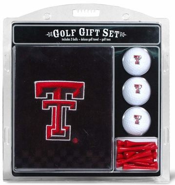 Texas Tech Embroidered Towel Golf Gift Set
