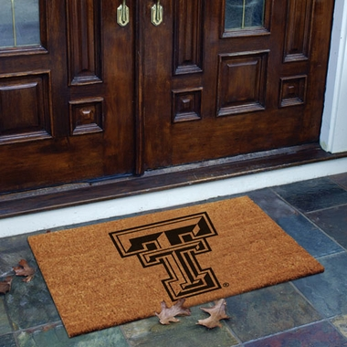 Texas Tech Flocked Coir Doormat
