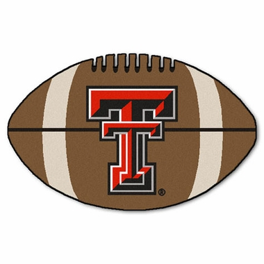 Texas Tech Football Shaped Rug