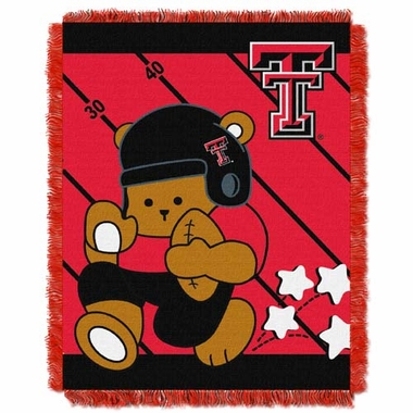 Texas Tech Jacquard BABY Throw Blanket