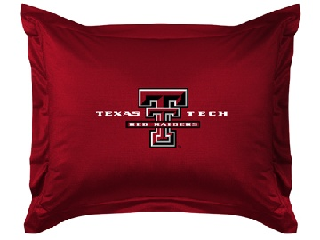 Texas Tech Jersey Material Pillow Sham