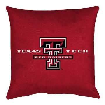 Texas Tech Jersey Material Toss Pillow