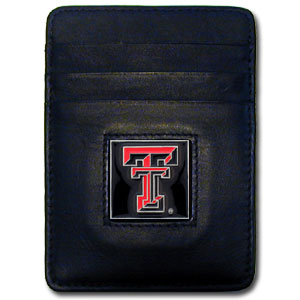 Texas Tech Leather Money Clip (F)