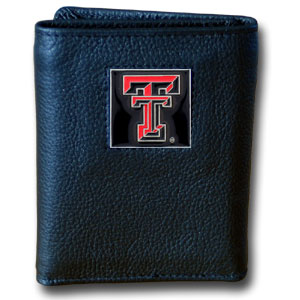 Texas Tech Leather Trifold Wallet
