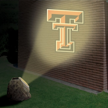 Texas Tech Logo Projection Rock