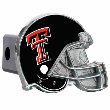 Texas Tech Metal Helmet Trailer Hitch Cover