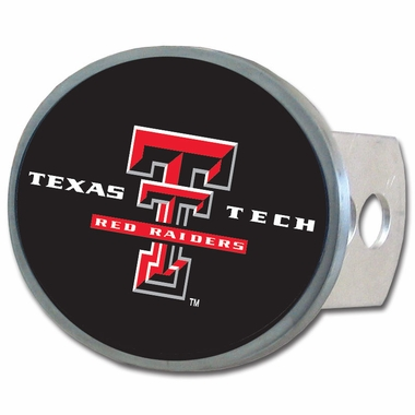 Texas Tech Oval Metal Hitch Cover