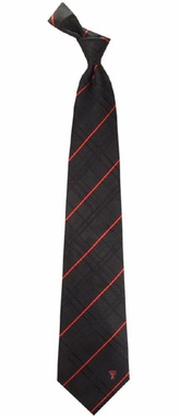 Texas Tech Oxford Stripe Woven Silk Necktie