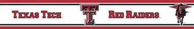 Texas Tech Peel and Stick Wallpaper Border