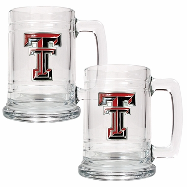 Texas Tech Set of 2 15 oz. Tankards