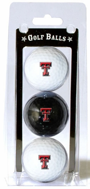 Texas Tech Set of 3 Multicolor Golf Balls